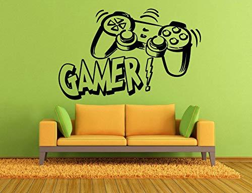 Vinyl Wandtattoo Joystick Videospiele Gamer Room Cool Art Vinyl Aufkleber Für Jungen Teen Schlafzimmer Wohnheim Wandbild 89 * 57 cm