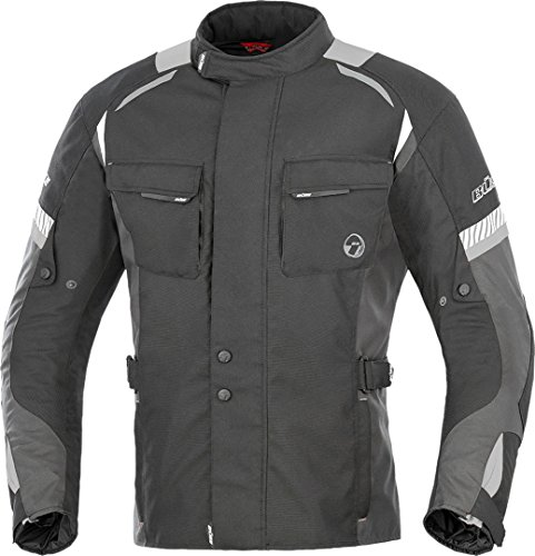 Büse Breno Motorrad Textiljacke XL Schwarz/Neon/Gelb
