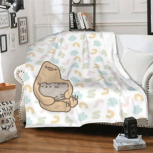 Coperta da tiro Hug Push-Een Cat,Coperta da letto ultra morbida,Per tutte le stagioni soffici e durevoli per la casa copriletto per divano