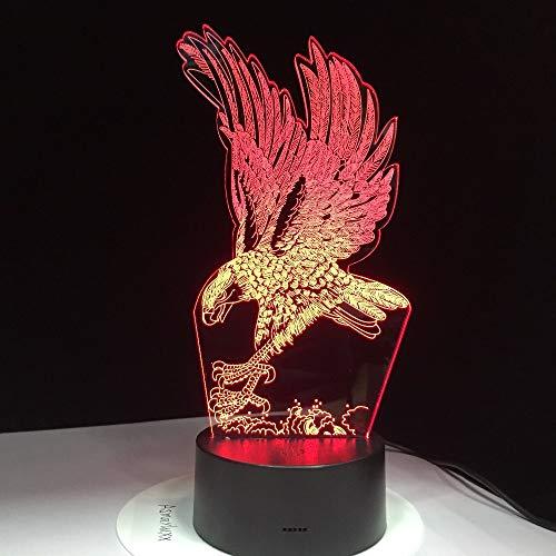 Diseño de águila Color Claro decoración del hogar atmósfera luz Nocturna