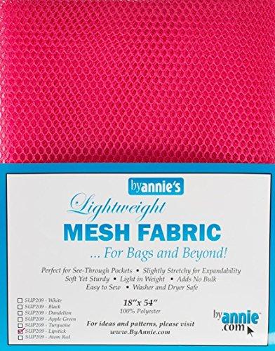 ByAnnie Lightweight Mesh Fabric, 100% Polyester Pink, 18 x 54 inch (ca. 45,7 x 137 cm) Netzstoff, 28 x 20 x 1 cm