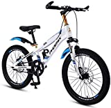 Bicycles 3~15 Years Old Boy and Girl Bicycle Student Bicycle Summer Travel Bicycle in Spring Children's Sports Car with Shifting (Color : Wei?, Size : 18inches) Wei? 18inches