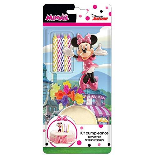Dekora - Decoración para Tartas con la Figura de Minnie Mouse y Velas Cumpleaños, Rosa, 11 x 5 x 23 cm (303001)