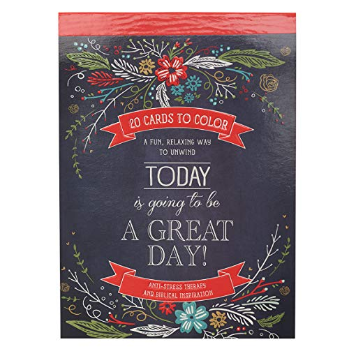 Today Is Going To Be A Great Day | 20 Inspirational and Exquisitely Designed Cards To Color | Expressions of Faith to Inspire Creativity and Relaxation | Stationery Postcard Size, 6.5 x 4.75