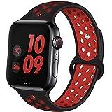 EXCHAR Bracelet de sport compatible avec Apple Watch 38 mm 42 mm 40 mm 44 mm...