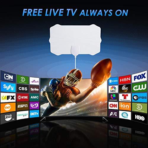 Lizefang Antena HDTV Antena De TV Digital para Interiores Alcance De 120 Millas con Amplificador De Señal De Amplificador Recepción 4K Ultra HD De Alta Great