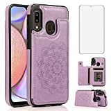 NKECXKJ Design for Samsung Galaxy A10E/A20E Wallet Case,PU Leather Phone Cases with Screen Protector Card Holder,Stand Shockproof Flip Protective Cover for Women Girls 6.2 inch Purple