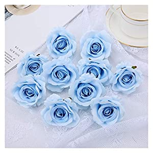 Xx101 Artificial Flowers Romantic Artificial Silk Roses Flower Heads for Wedding Arch Bridal Floral Decorations DIY Home Decor Flowers