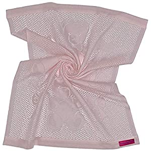 Southampton Home Lace Weave Bears & Bows Baby Blanket (Pink)