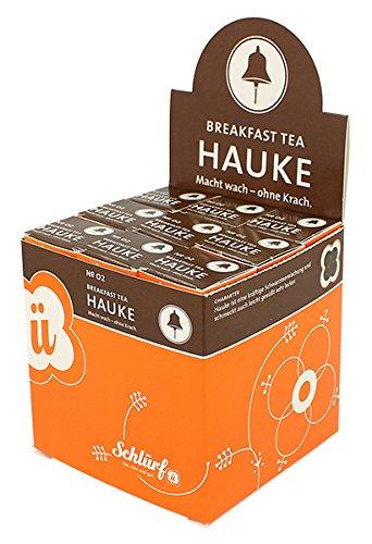 Schlürf Schlürfel Bio Breakfast Tee   Hauke No. 2   1 Display mit 27 Teebeutel Würfel   Tee Box   Pyramidenbeutel einzeln verpackt   67,5 g