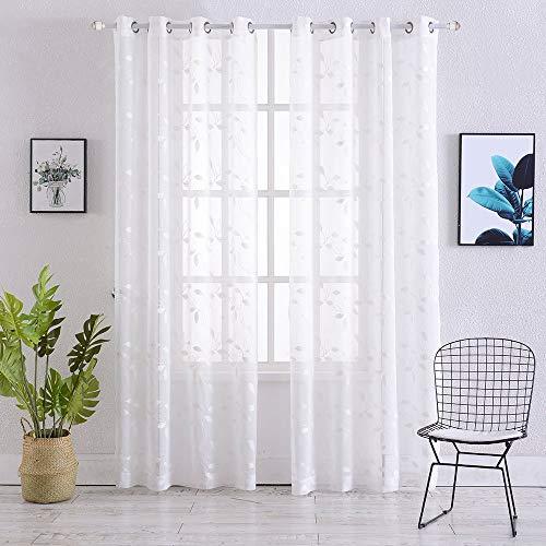cortinas blancas florales