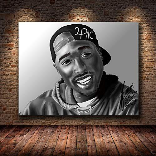 Preisvergleich Produktbild Tupac Shakur Poster Die Big Biggie Smalls 2PAC Print Hip Hop Rapper König Wohnkultur 20x25cm No Framed YF150