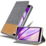 Cadorabo Book Case Works with HTC Desire 12 in Light Grey Brown - with Magnetic Closure, Stand Function and Card Slot - Wallet Etui Cover Pouch PU Leather Flip