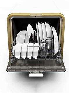 WYZXR Lavavajillas de 900 vatios, Lavadora de vajilla, 4 Juegos de vajilla, Limpieza rápida, Secado, lavavajillas Independiente fácil de Instalar para la Cocina doméstica