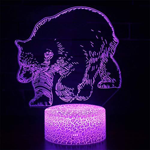 Lumière de nuit 3D simple/LED, lumière 7 couleurs Touch Art Sculpture avec câble USB Chambre Bureau Bureau Décoration Lumière Enfant Adulte