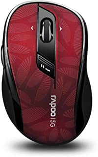 RAPOO 5.8GHz Wireless Mouse with Side Buttons, 4D Scroll Wheel, Programmable Buttons, 500/1000 DPI, Red