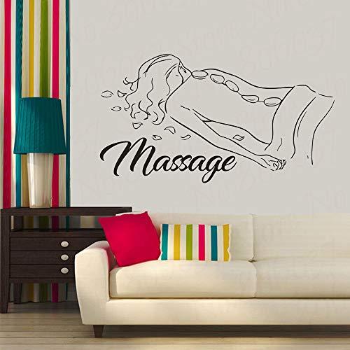Massage Zeichen Wand Fenster Aufkleber Spa Schönheitssalon Dekoration Körperentspannung Spa Vinyl Innendekoration