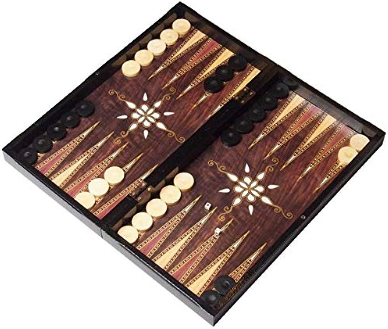 a la venta Juego de mesa Atilla Atilla Atilla Tavla 3en 1, tablero XL, backgammon, ajedrez y damas, 47x 47cm  Centro comercial profesional integrado en línea.