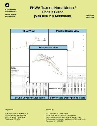 FHWA Traffic Noise Model User's Guide- Version 2.0 Addendum