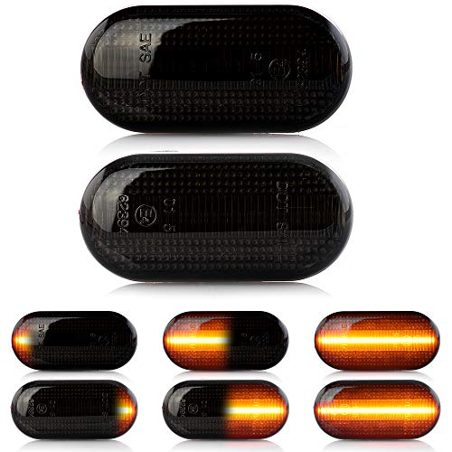 2 X LED Blinker Seitenblinker Blinkleuchte Dynamisch Laufblinker Kotflügel-Blinker mit E-Prüfzeichen V-171307LG
