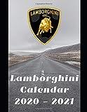"Lamborghini Calendar 2020-2021: Weekly Planner Calendar Logbook Diary Gift Todo Memory Book Budget Planner | Cars, Men, Woman, Girls & Boys, Autos | 8.5"" x (Cars calendar 2020-2021)"