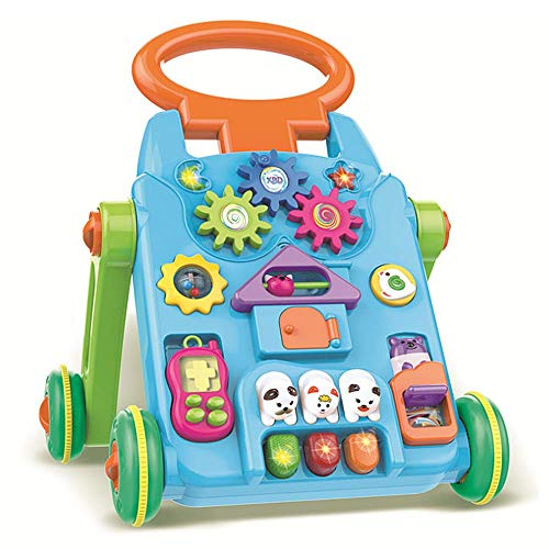 QHWJ Baby Walker, Trolley Toy Multi-Fonction Anti-Side Automne Puzzle Table D'Étude Enfant Poussette Walker Early Education Jouets Éducatifs
