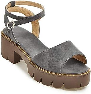 BalaMasa Womens ASL06099 Pu Platform Heels