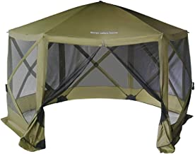 Seven colors house Pop Up Easy Install Screen House Canopy 6 Side Portable Camping Gazebos Tent for 8 Person, 135 x 135 Inch