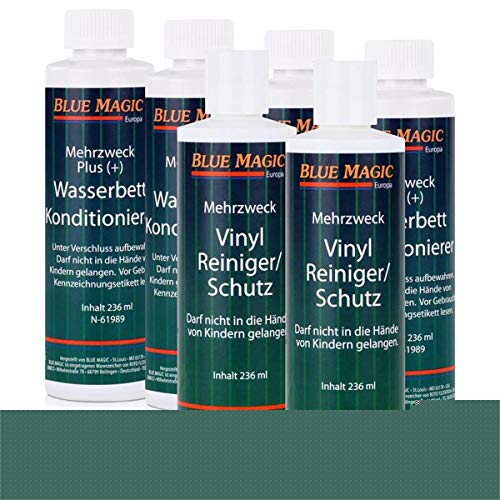 6 tlg. Set Blue Magic 4 Konditionierer/2 Reiniger, Wasserbett, Conditioner