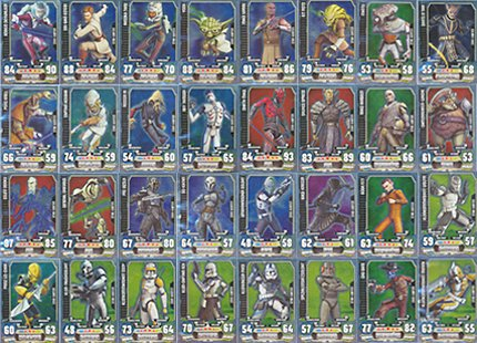 Star Wars Force Attax - SERIE 3 - ALLE 32 Star Karten - Deutsch