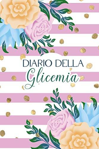 Diario della glicemia: Quaderno per annotare i livelli della glicemia per 106 settimane, fino a due anni di annotazioni. Cornice rose