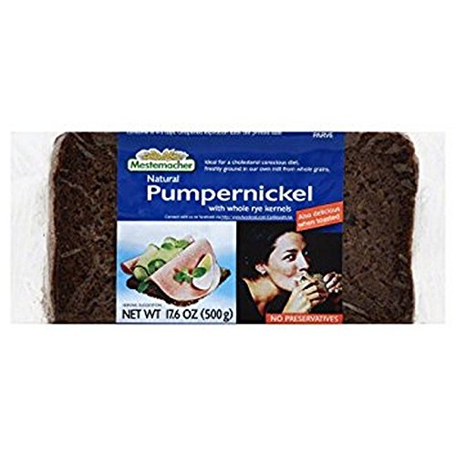 MESTEMACHER BREAD, Pumpernickel Bread, With Whole Rye Kernels, Pack of 3, Size 17.6 OZ