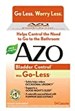 WORRY LESS AZO Bladder Control with Go-Less helps reduce occasional bladder leakage from laughing, coughing, sneezing, exercise. AZO Bladder Control does what pads and liners can't do: helps support bladder muscle strength and allows you to feel more...