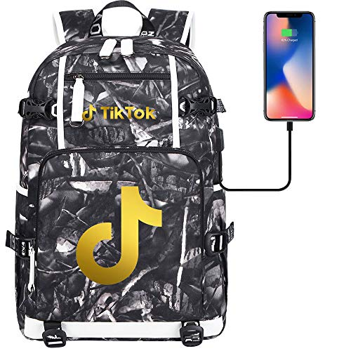 Travel Backpack Ladies Leisure Backpack Laptop Tablet Computer USB Charging Port Camping Backpack 45 cm x 30 cm x 15 cm. Type I.