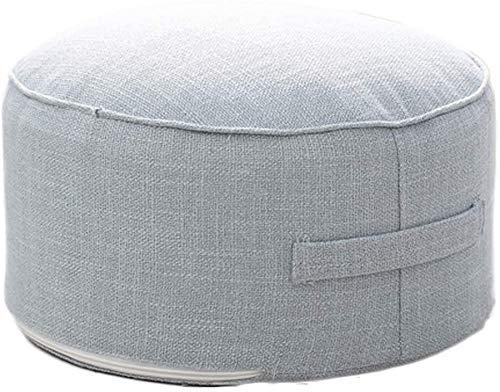 GCP Upholstered Footstool Footstool Round Pouffe Sofa Sofa Ottoman Ottoman, Footrest Footstool Step Stool with Handle and Removable Cover for Footstool at Home (Color: C, Size: 40x20x20cm (16x8x