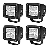 AUTOSAVER88 4PACK LED Pods 4' 32W, 3200LM Flood Off Road Fog Work Lights Super Bright Waterproof for Motorcycle Trucks ATV Boats