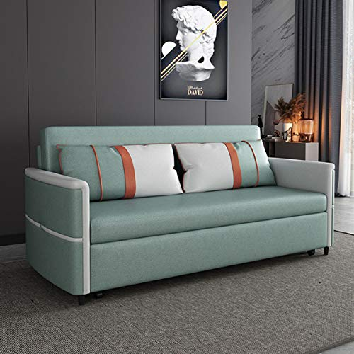 SND-A Sofa Bed Couch for Living Room, Pull Out Sleeper And Storage Loveseat, Folding Twin Sofa Bed Furniture,Convertible Sofa Bed Arm Sleeper Leisure Futon Sofa Comfortable Cushion,Green,1.66M