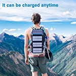 Pealiker Solar Power Bank 25000mAh Portable Solar Charger with Dual USB 2.1A Output 4 Solar Panels Waterproof Battery…