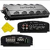Audiopipe 4 Channel Amplifier – Class A/B Multichannel Amplifier 2100 watt, Car Electronics Car Audio Subwoofer 2-4 Ohm Stable Bass Boost Crossover Amplifier for Car Speakers Sub Amp