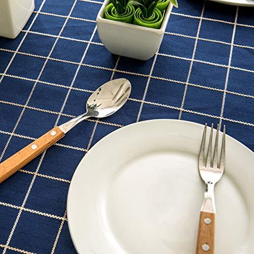 DSman Adecuado para Cocinas Exteriores O Interiores Mantel Mesa Borla de Tela Escocesa Impermeable Jacquard de poliéster