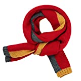 Gually Kinderschal aus Wolle für den Winter, warm, für Kinder im Freien, 1 Stück, rot