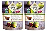 ORGANIC Turkish Dried Figs - Sunny Fruit (2 Bags) - (5) Portion Packs per Bag - NO Added Sugars, Sulfurs or Preservatives | NON-GMO, VEGAN & HALAL