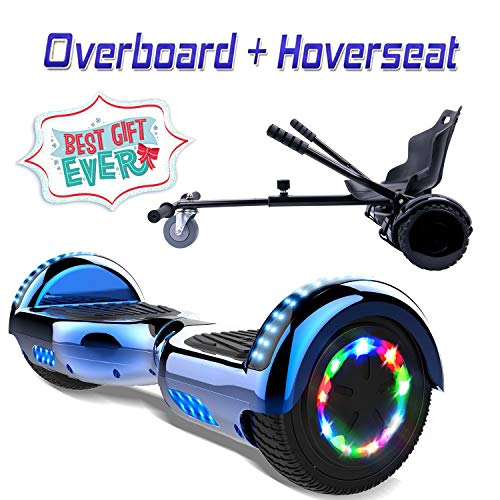COLORWAY Overboard Hover Scooter Board Gyropode Bluetooth SUV 6.5 Pouces, Scooter Electrique Moteur...