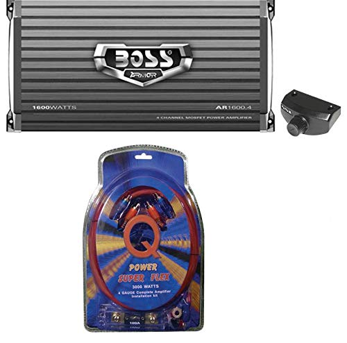 Learn More About BOSS AUDIO AR1600.4 1600W 4 Channel Car Amplifier AR16004 +Remote + 4 Ga Amp Kit
