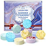 Lagunamoon Shower Steamers Aromatherapy Set of 12 for Relaxation, Shower Bomb with Essential Oils for Home Spa, Perfect Self Care Gifts for Women, Relaxation Gifts for Moms