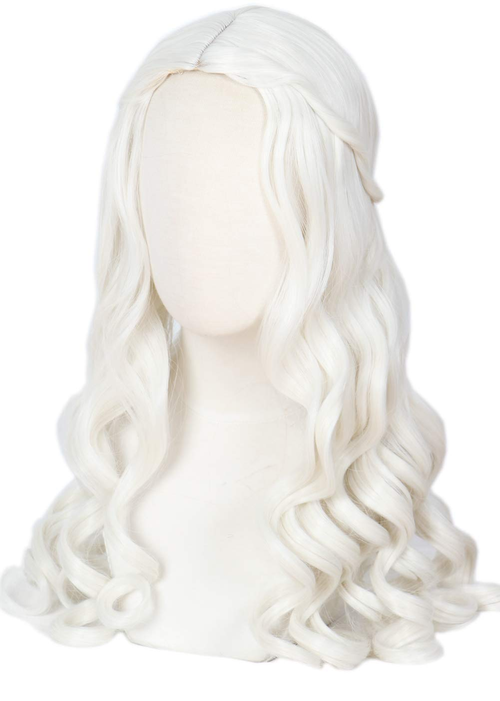 Linfairy Women Girl's White Blonde Long Purchase Cospl We OFFer at cheap prices Wig Halloween Wavy