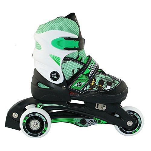 Nils Extreme Kinder Inline Skates NJ9128A Inliner Rollschuhe (Grün, 26-29)