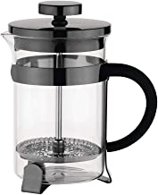 Olympia DR750 Hedendaagse Gunmetal 12 Cup Cafetière, 1.5L Capaciteit, 230mm x 120mm x 170mm, Zwart