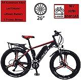 QDWRF Vélo Electrique 26' E-Bike - VTT Pliant 36V 350W 8/10/13AH pour Adultes, en Alliage de magnésium eBikes Vélos Tout Terrain, Amovible au Lithium-ION pour Hommes Montagne Ebike Black 13AH