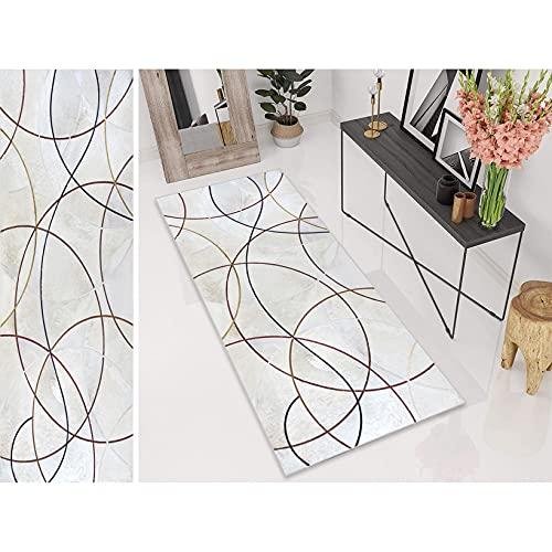 ERPENG Tappeto Passatoia 70x110cm Tappeto di Design Varie Misure Multiuso, Antiscivolo Lavabile Personalizzabile per Ingresso, corridoio, corridoio, TappetoDivertente, D